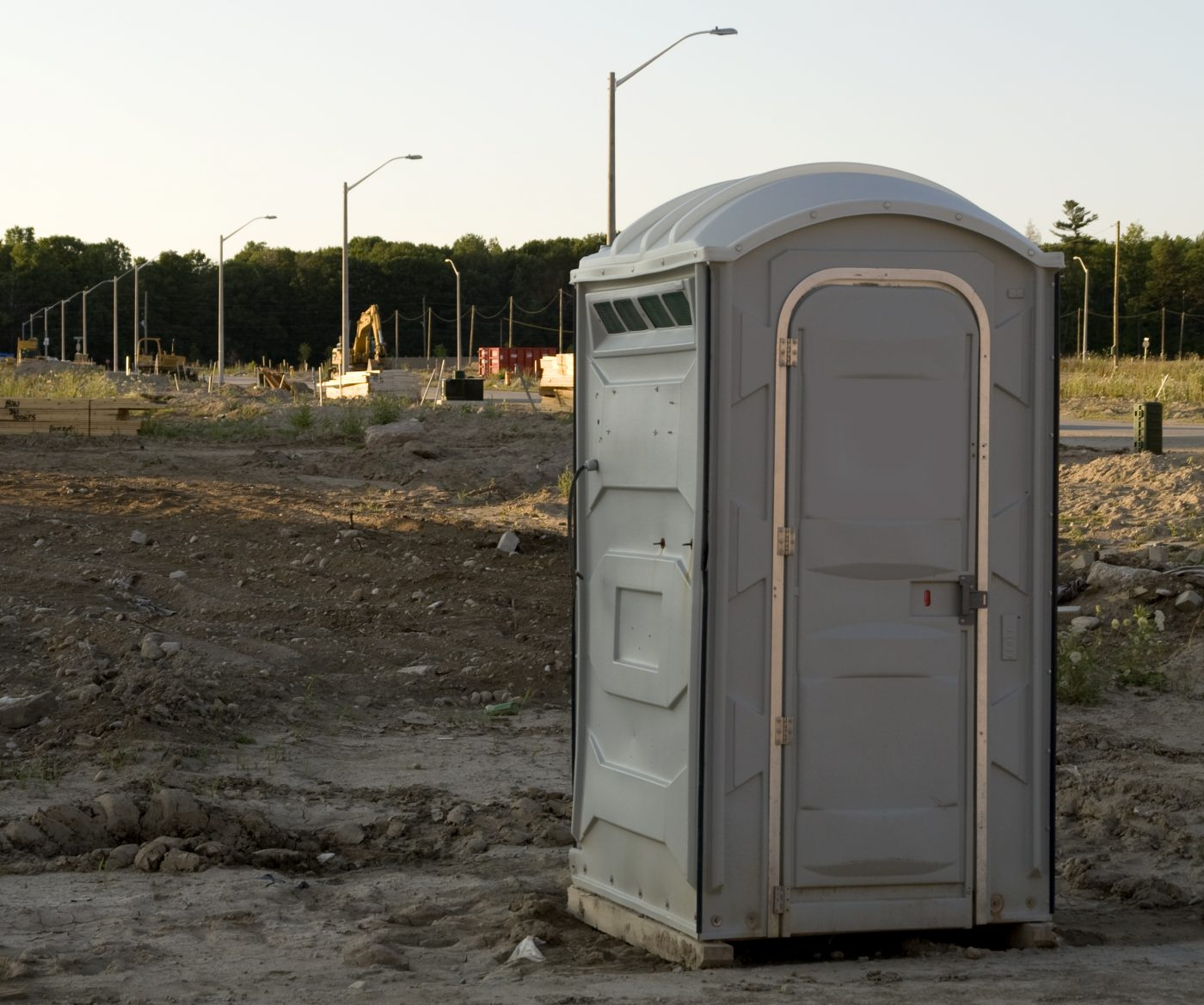 Construction Site Porta Potty In Muskogee